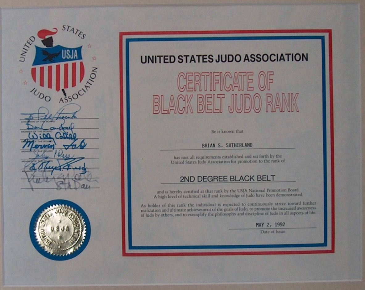 Brian Sutherland Sensei Aikido Judo and Karate Biography